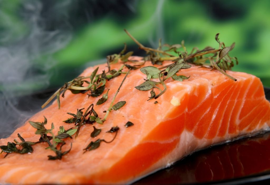salmon fish as home remedy of dandruff.
