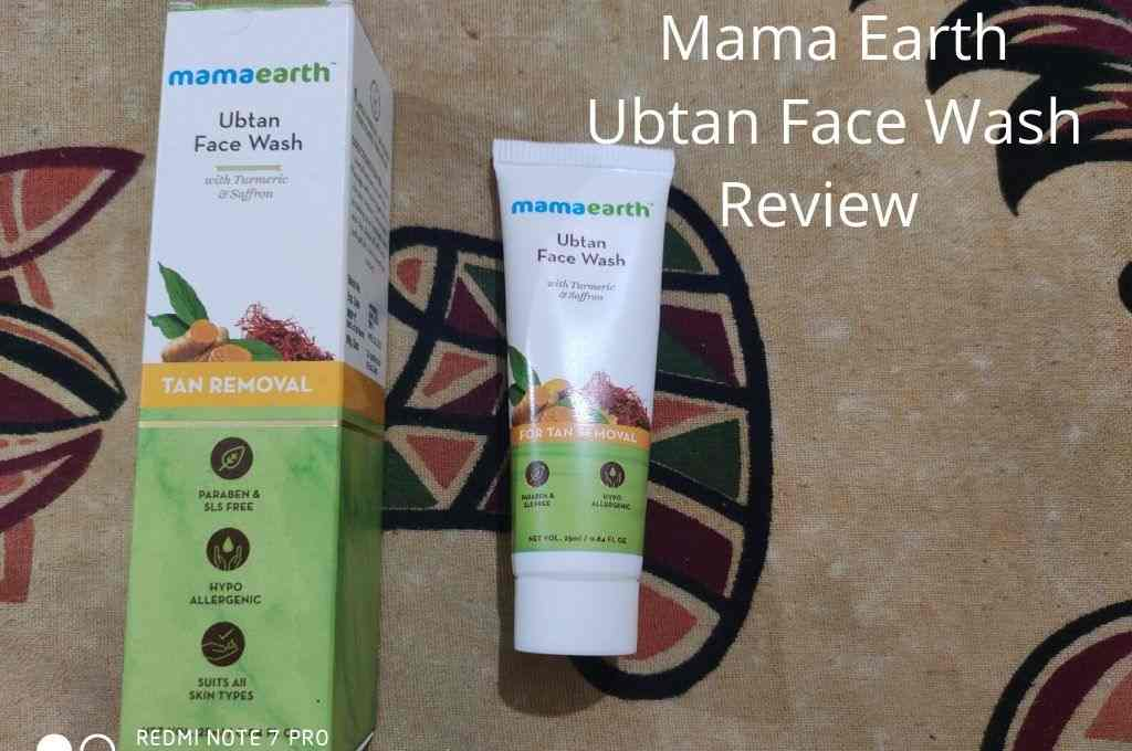 mama earth ubtan face wash review